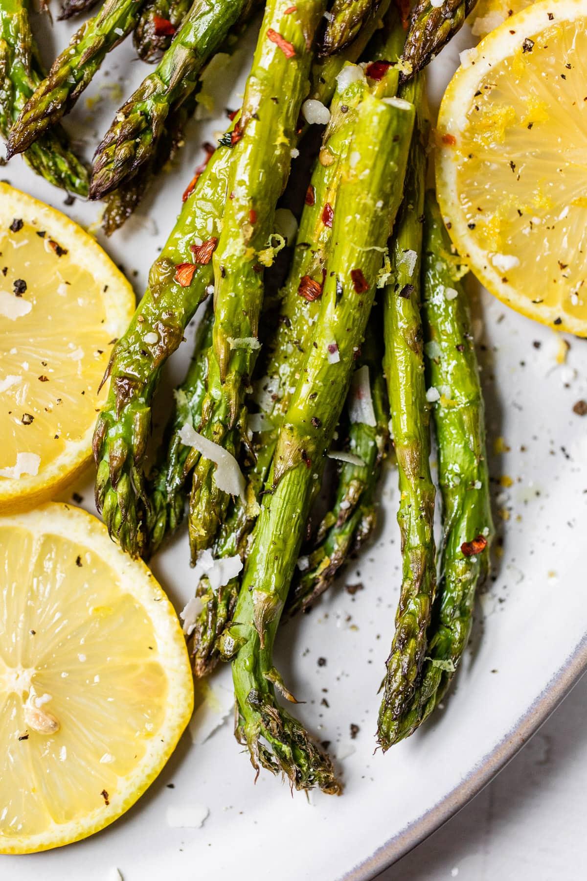 Parmesan roasted asparagus with lemon