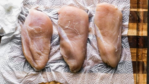 Three chicken breasts