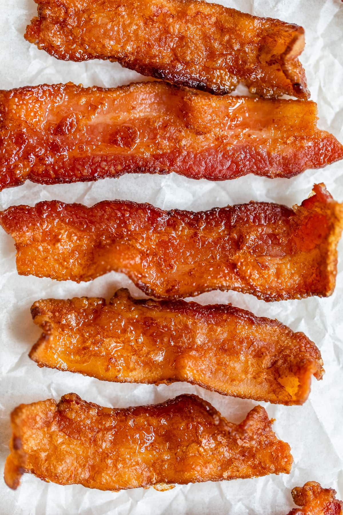 Pieces of crispy air fryer bacon