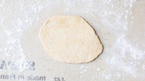 Dough on a rubber mat
