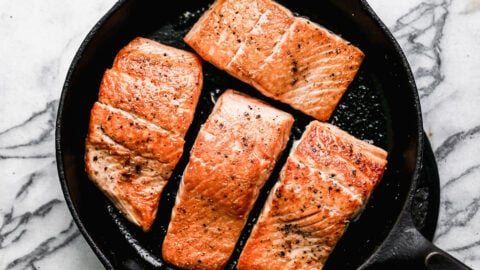 Healthy honey garlic salmon fillets