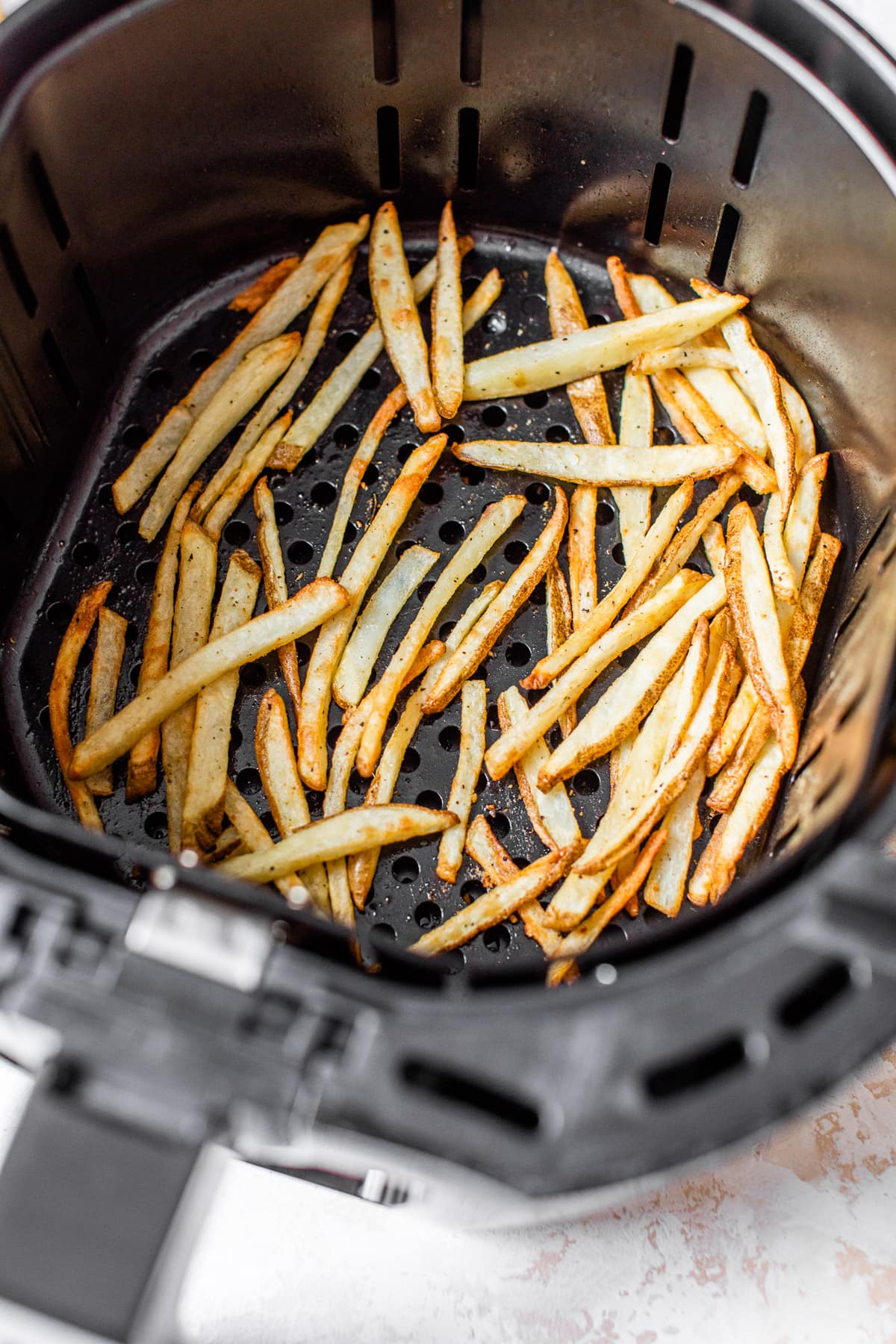 French fries in an air fryer