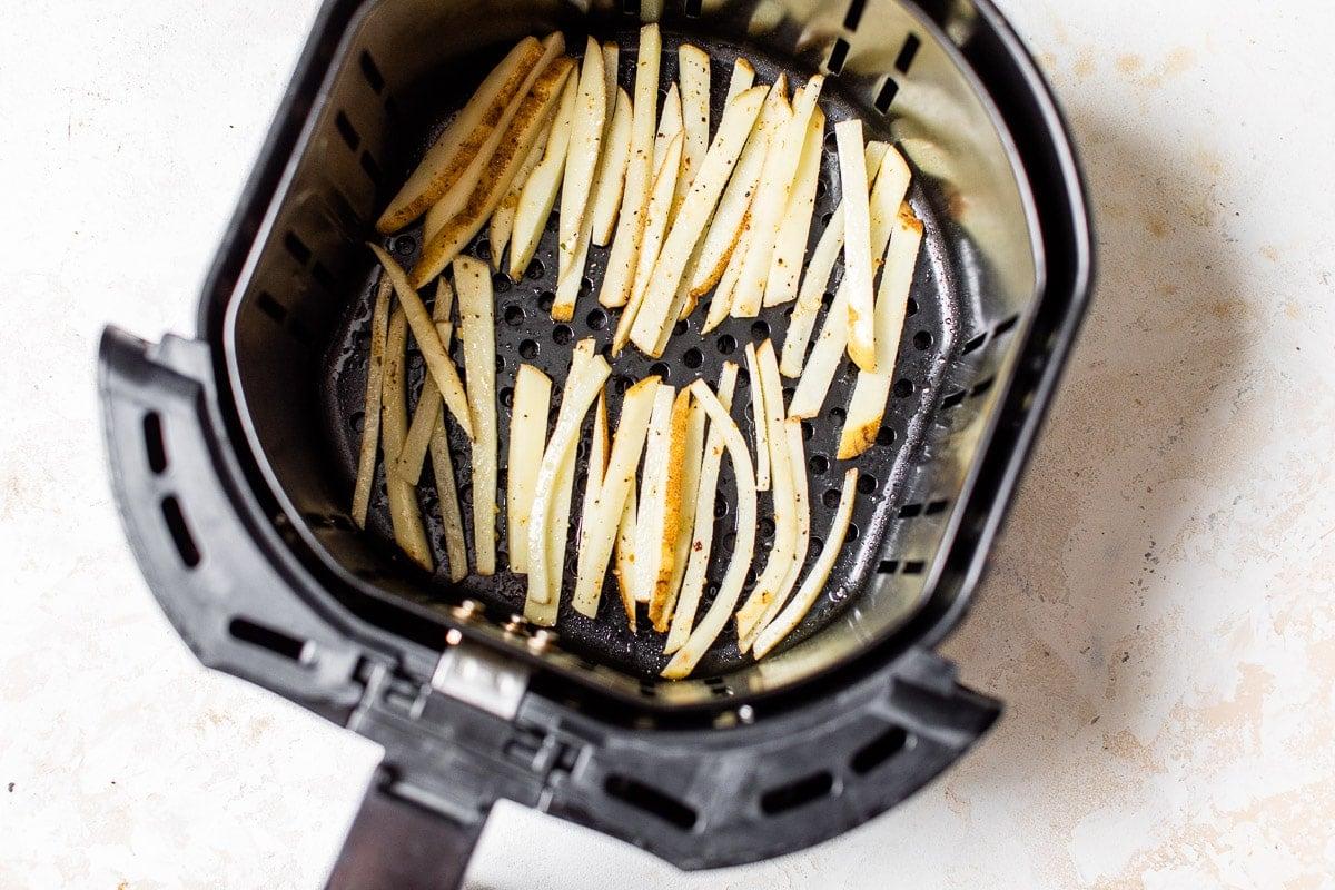 Potatoes in an air fryer