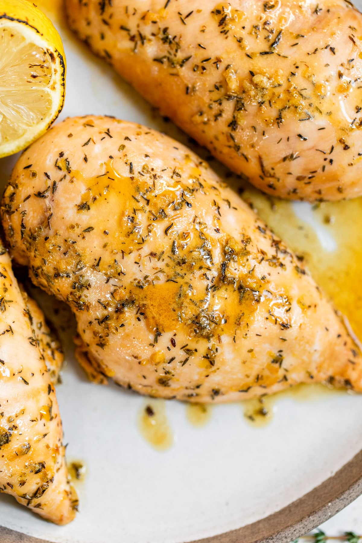 Chicken marinade on chicken breasts