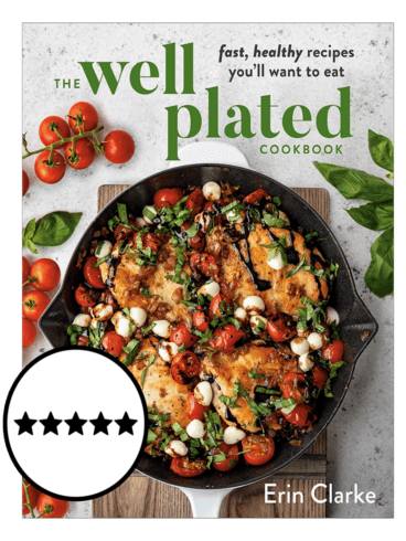 The Cover of the Well Plated Cookbook with Ratings