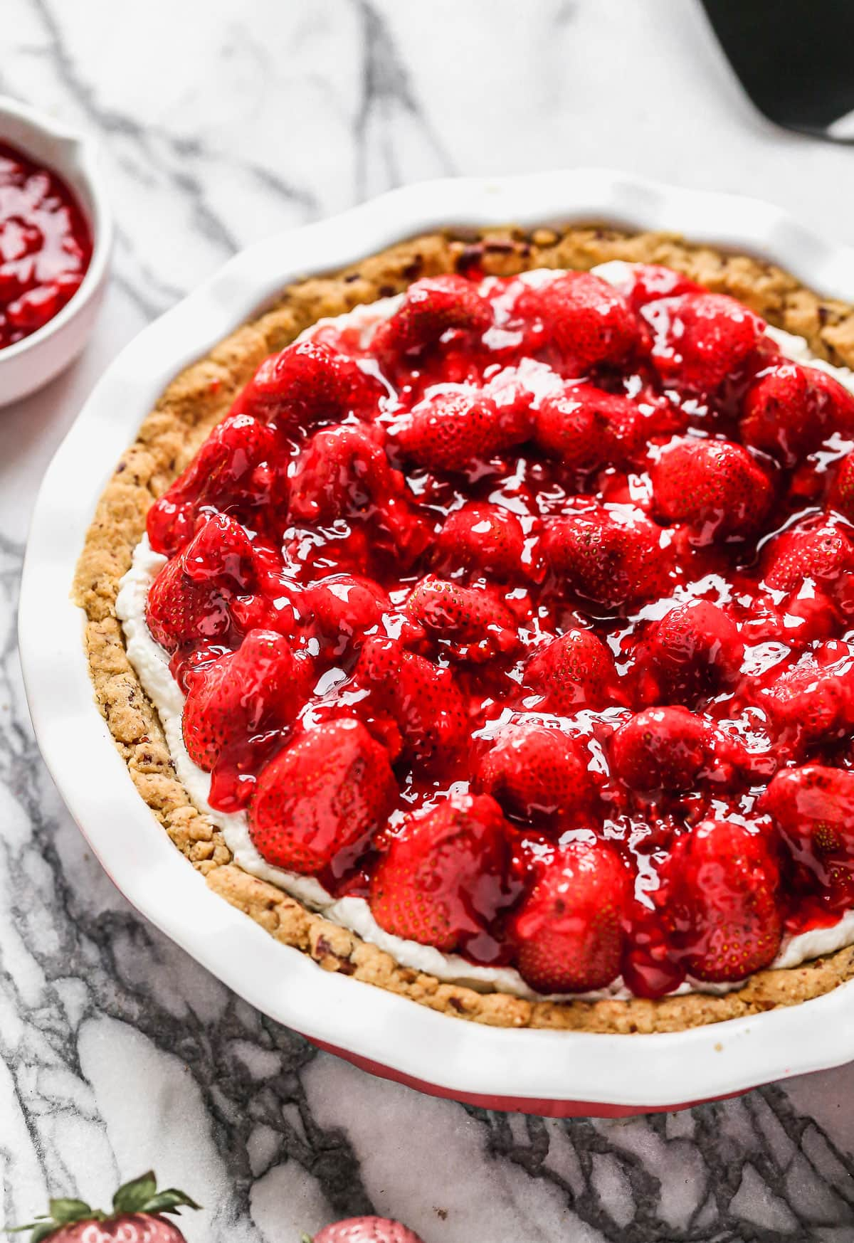 Delicious strawberry cream cheese pie