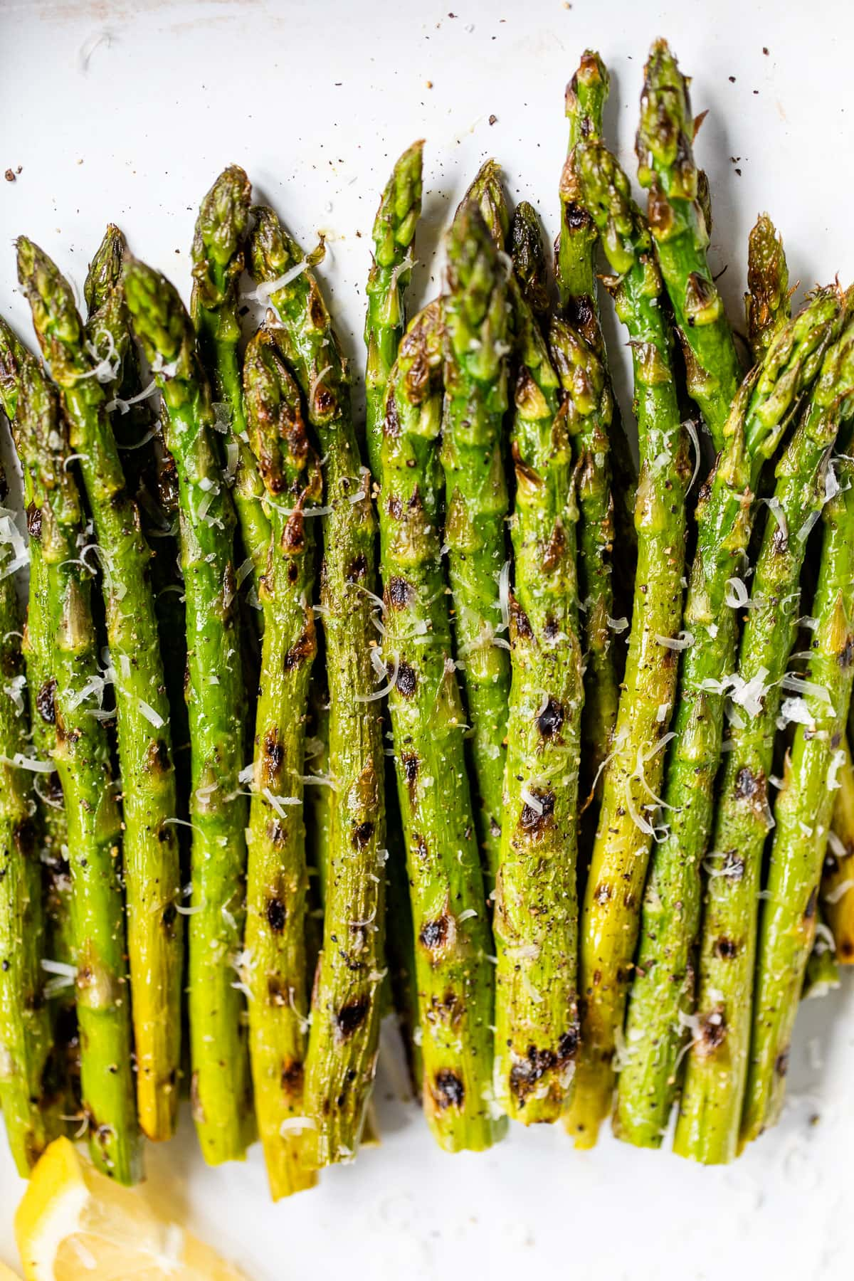 Easy grilled asparagus with Parmesan