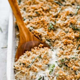 Asparagus casserole with a crispy topping