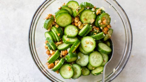 asian cucumber salad with soy sauce