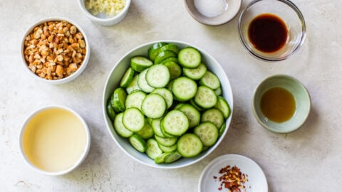 asian cucumber salad ingredients