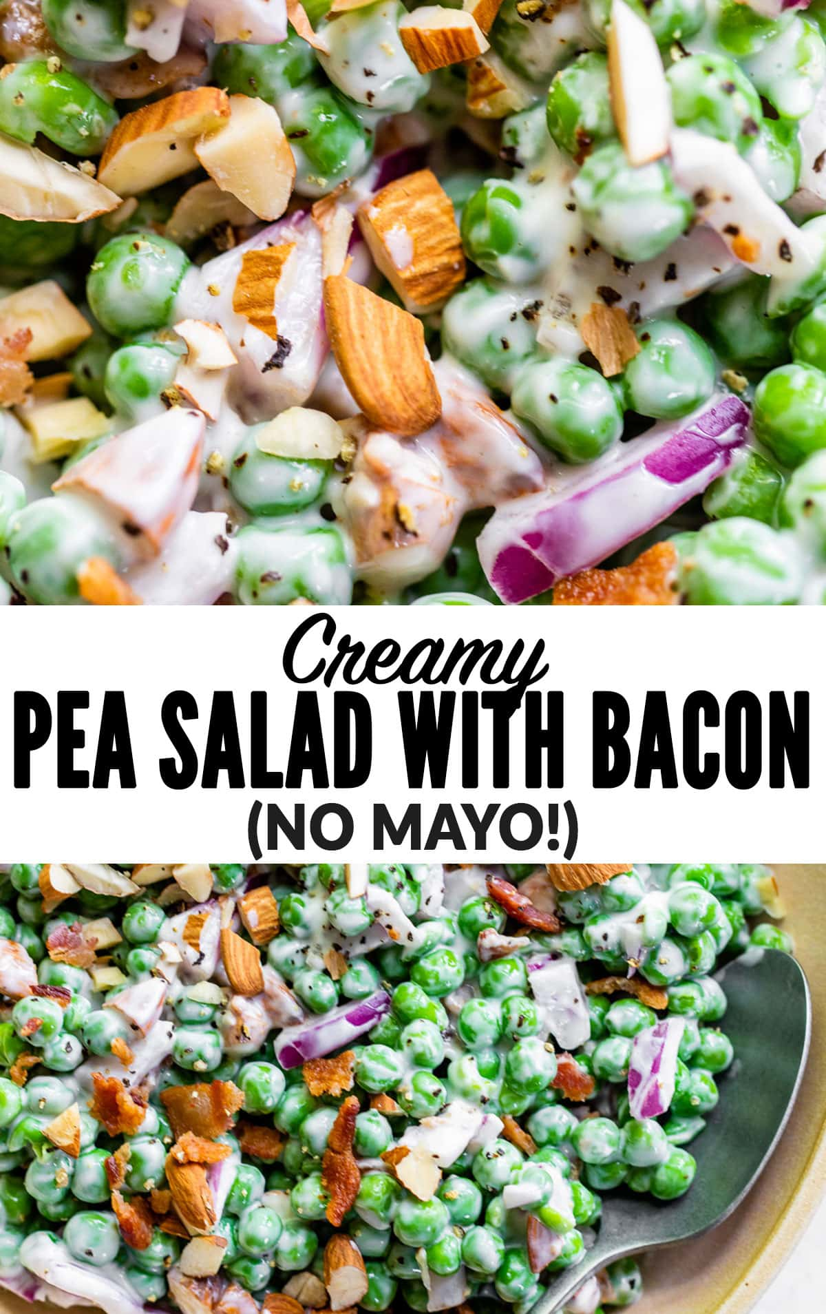 Creamy Pea Salad with Bacon and Onion