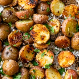 baby grilled potatoes in foil