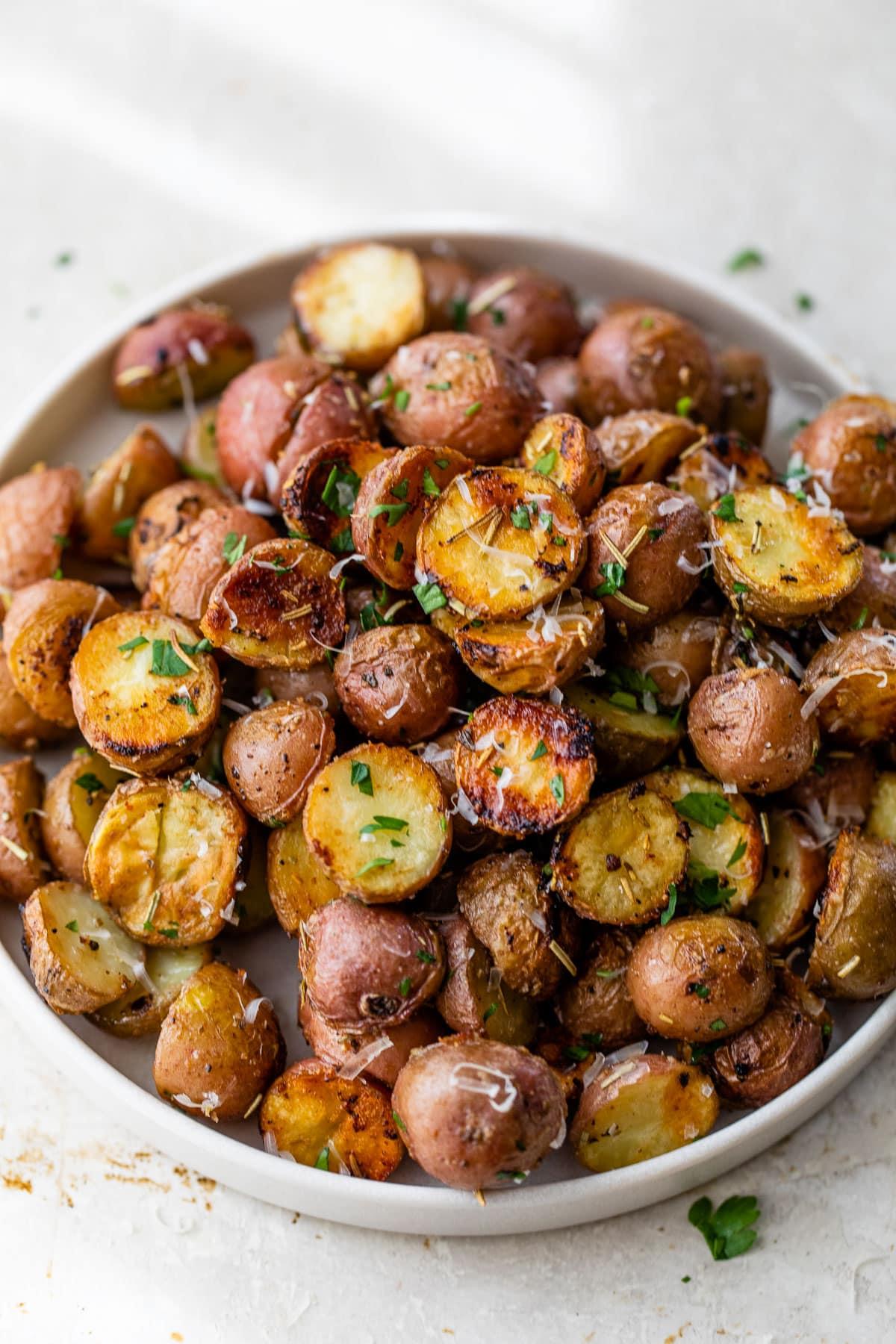 crispy grilled potatoes