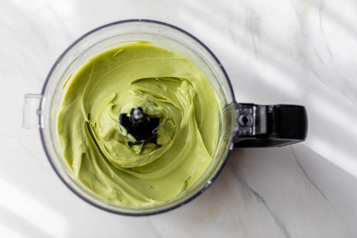 blending avocado ice cream