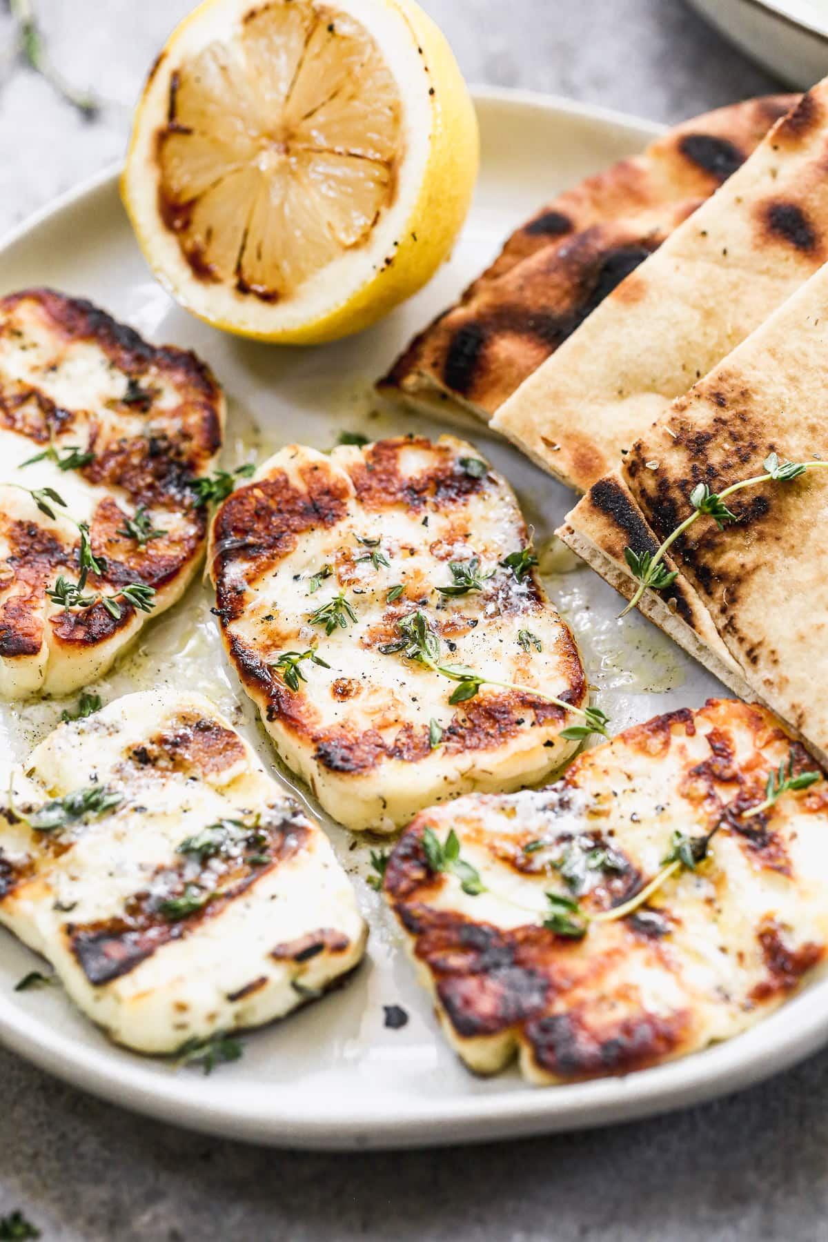 easy grilled halloumi cheese with pita