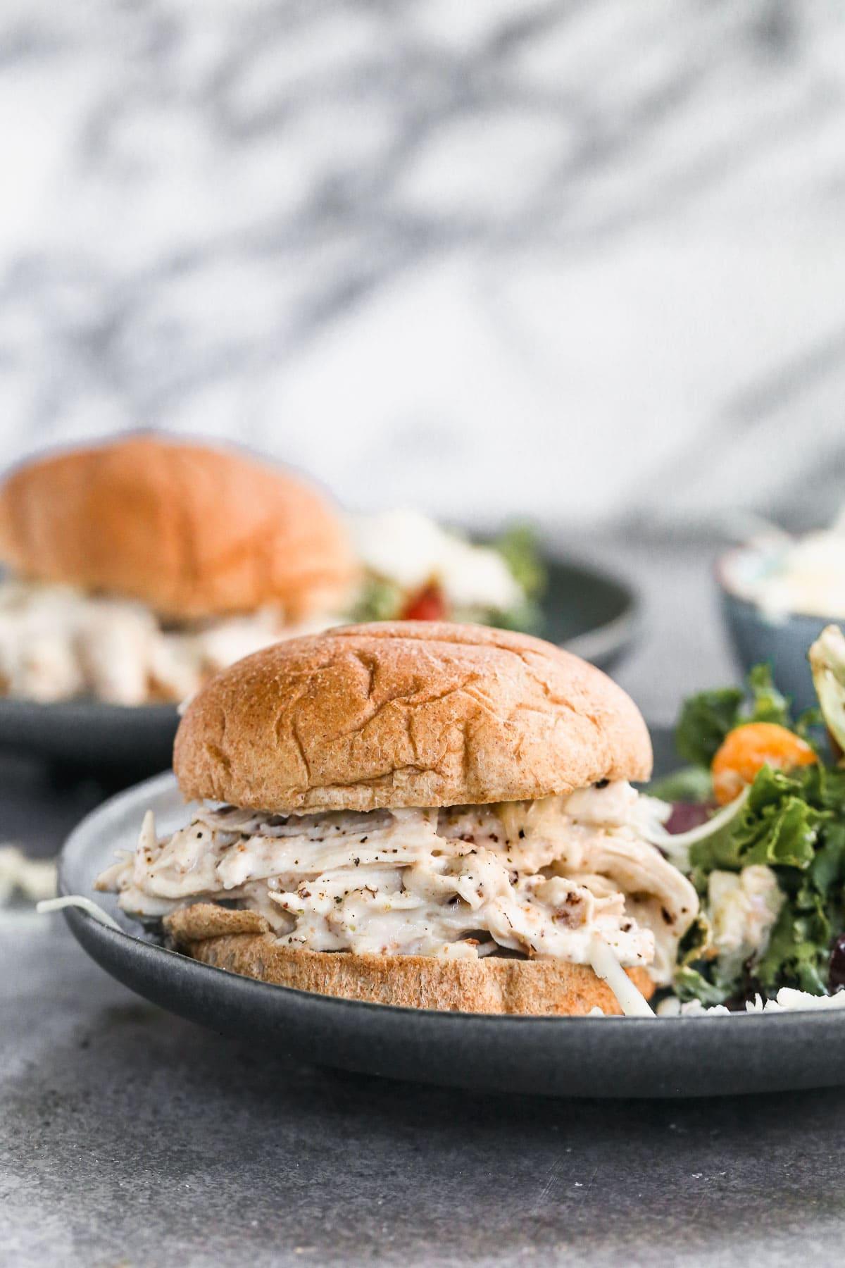 healthy shredded chicken sandwich recipe