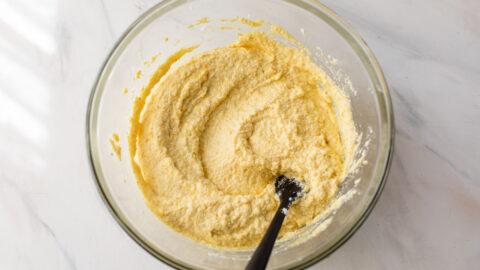 batter mix for Italian polenta cake
