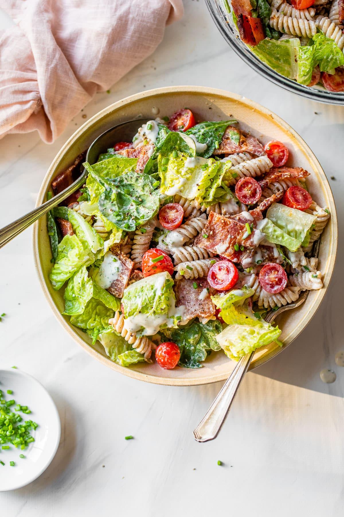 BLT pasta salad no ranch dressing