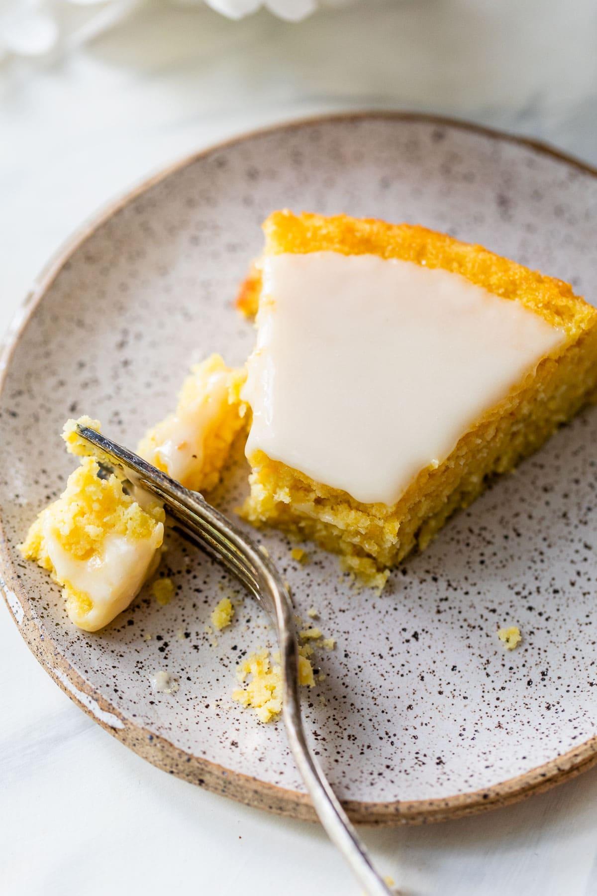 slice of Italian polenta cake recipe