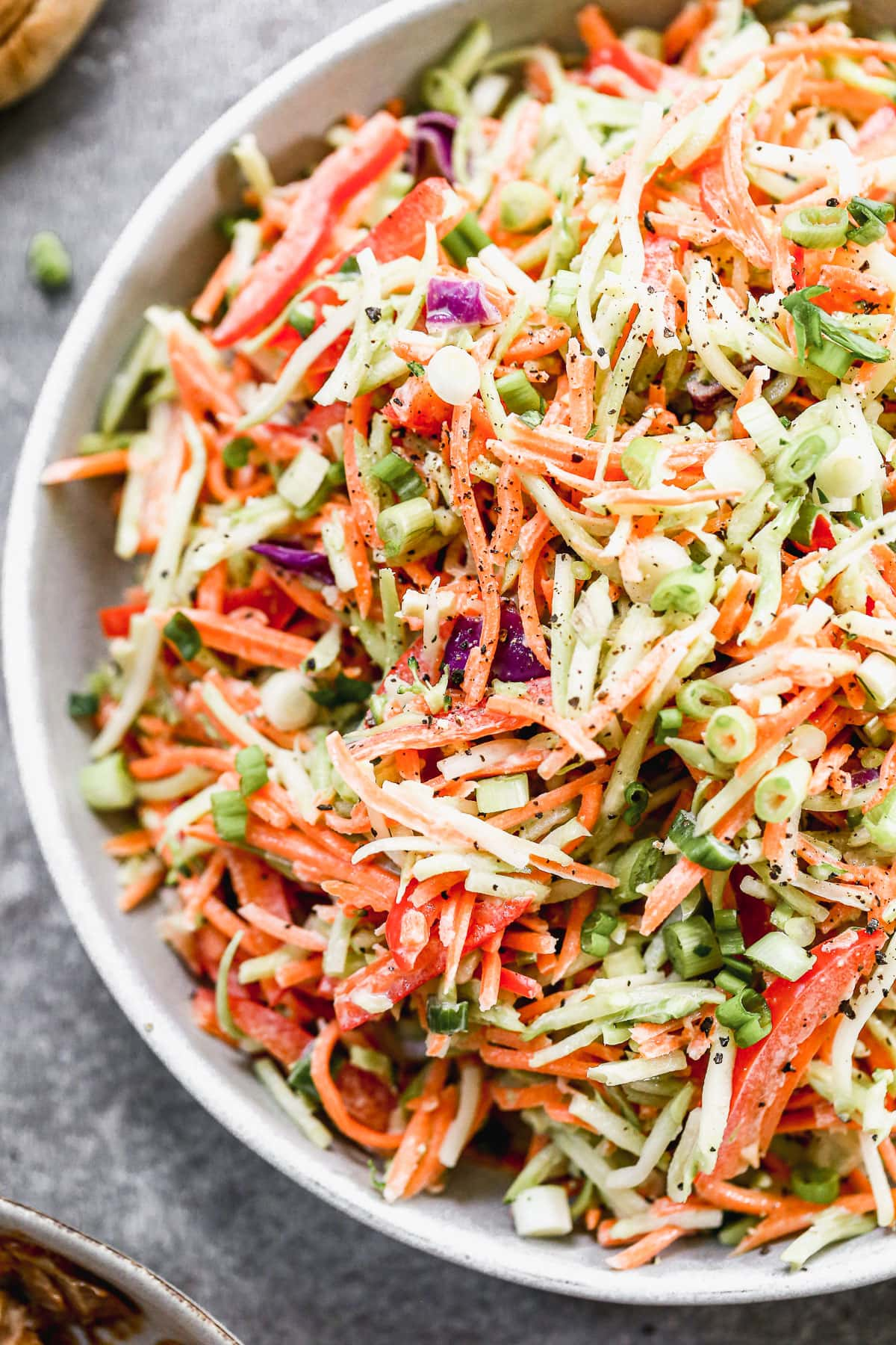 creamy healthy coleslaw without mayo in a bowl
