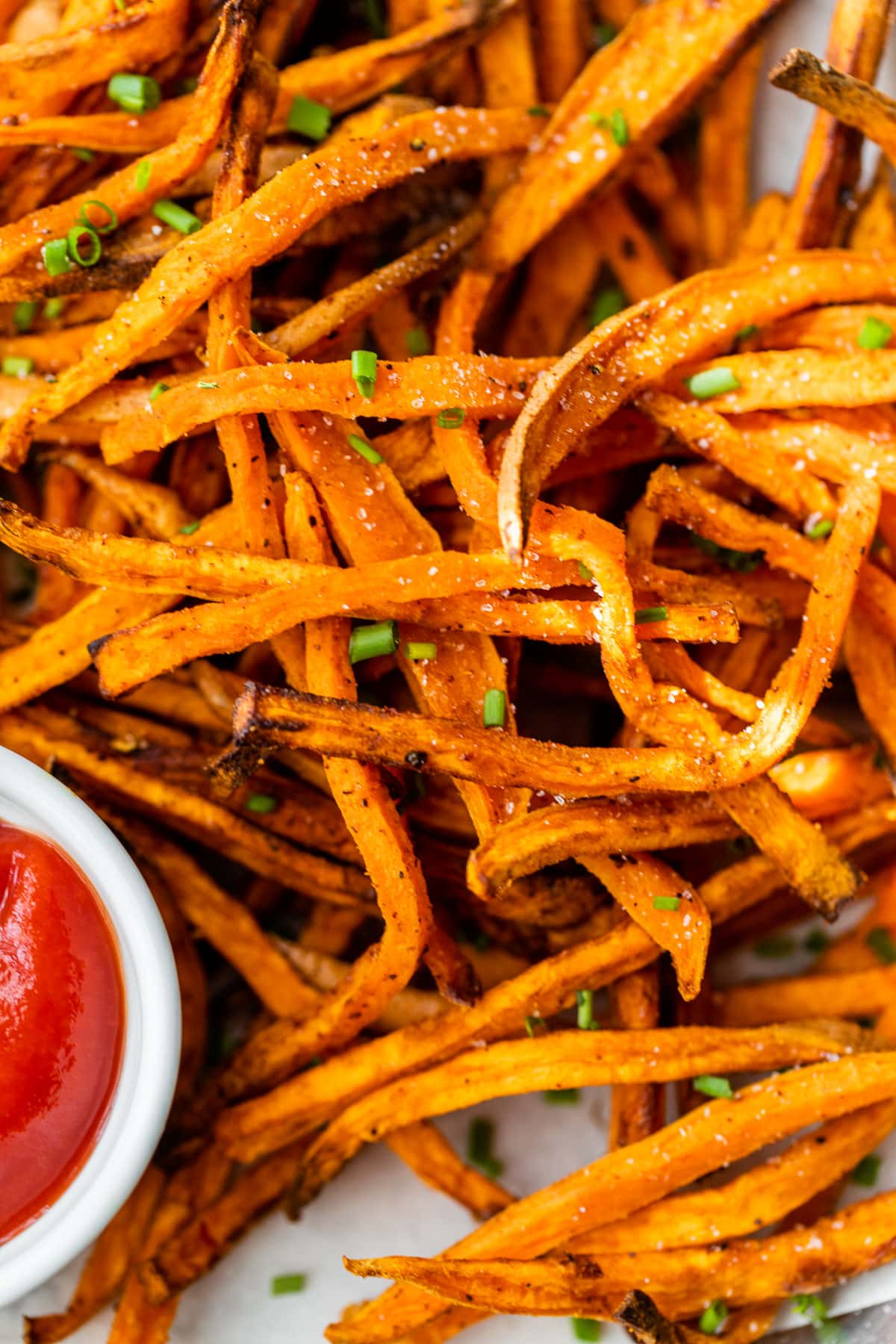 crispy sweet potato air fryer fries