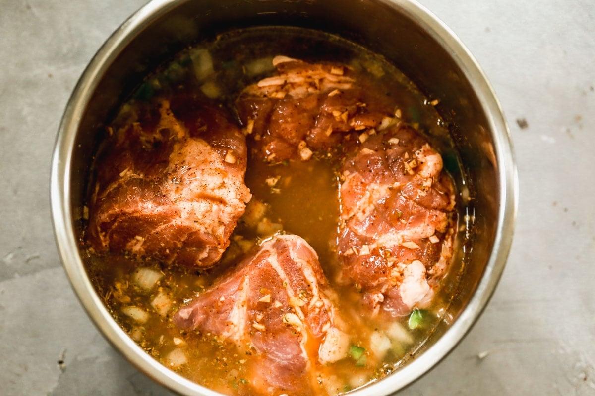 carnitas pork shoulder in the instant pot