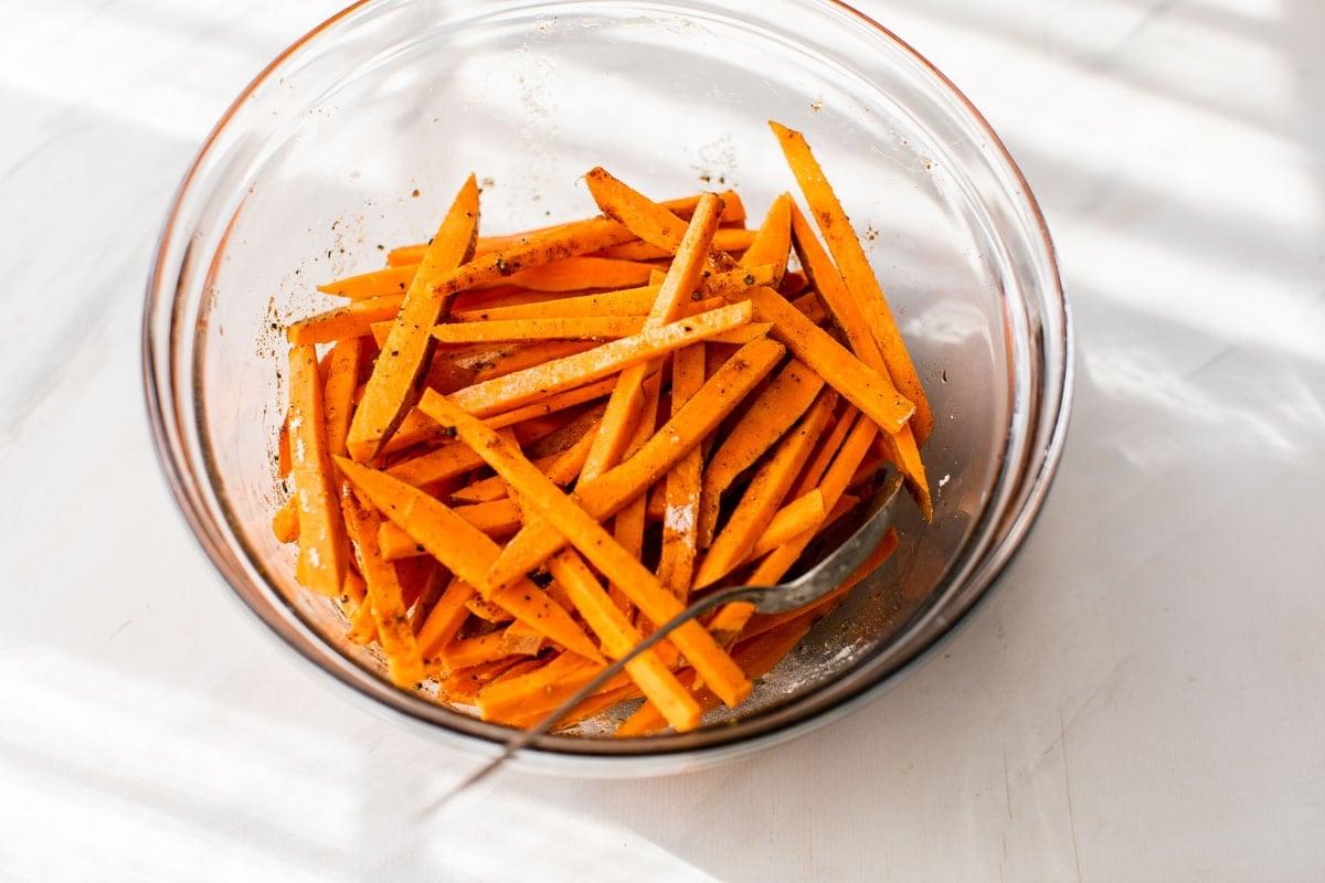 sweet potato fries in a bowl