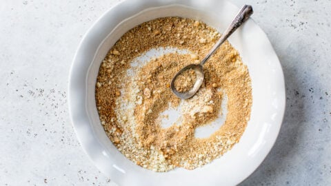 breadcrumbs in a bowl for air fryer fried chicken breast