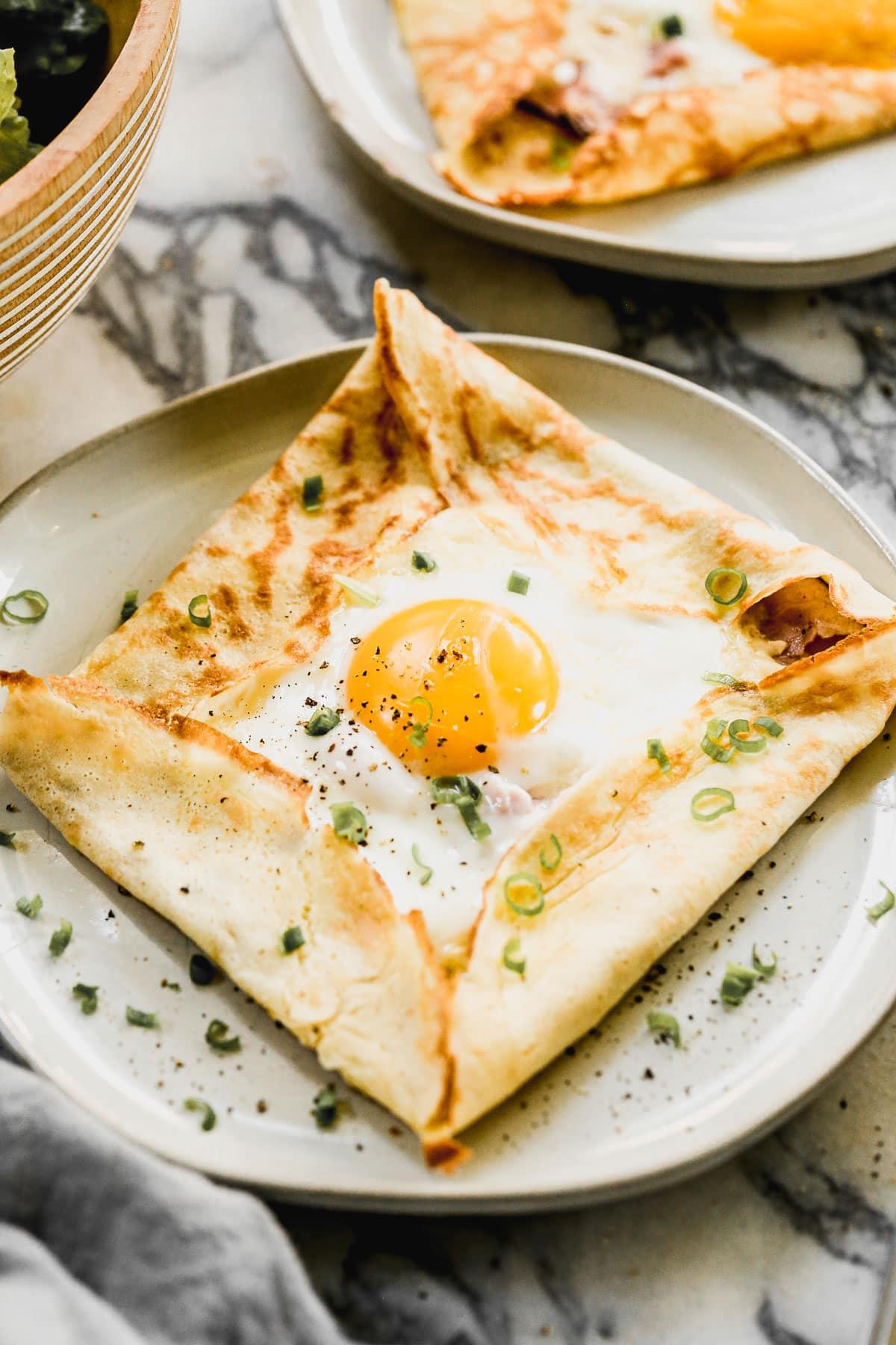 Savory crepes with egg
