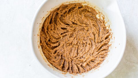 Cookie batter in a bowl