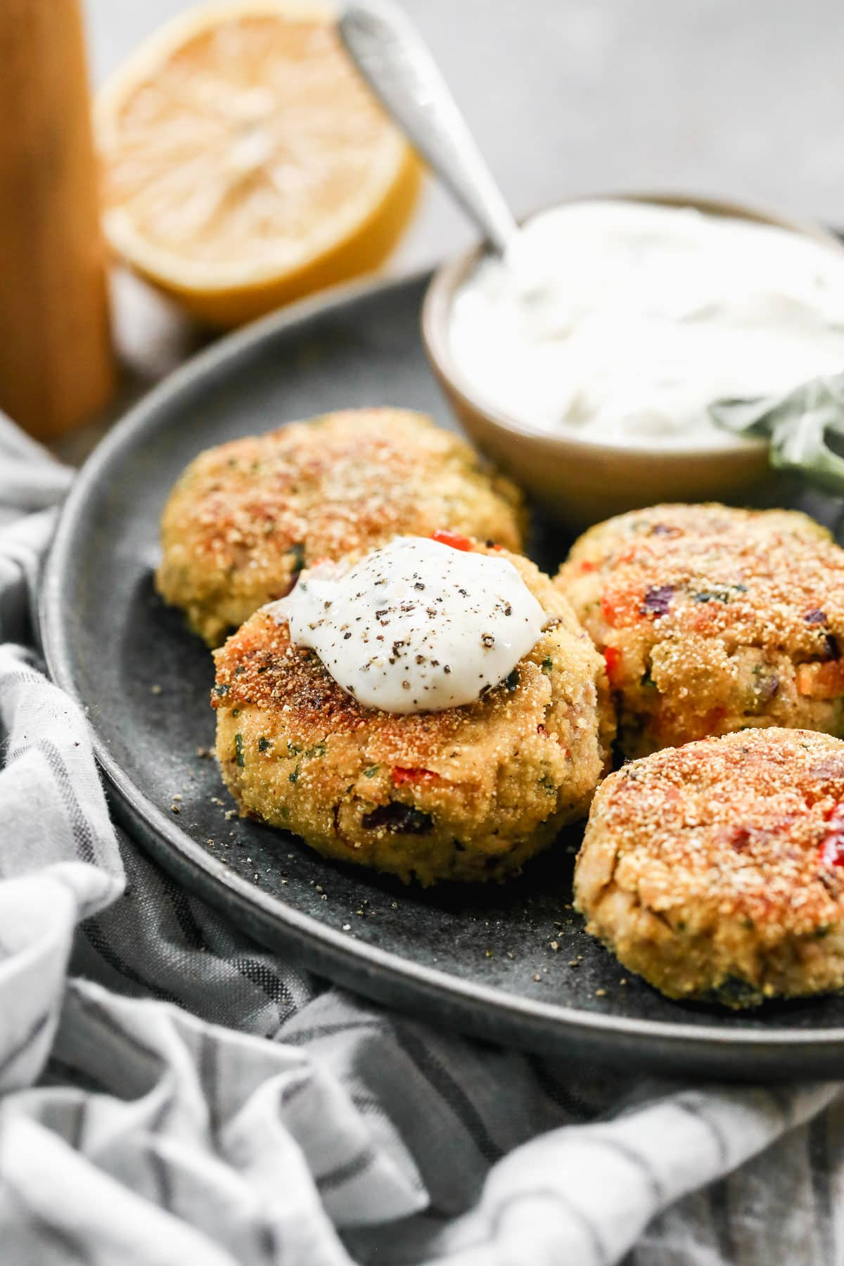 Easy salmon croquettes on a plate