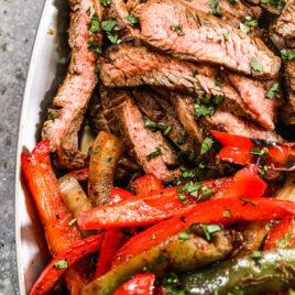 Easy beef fajitas with seasoning