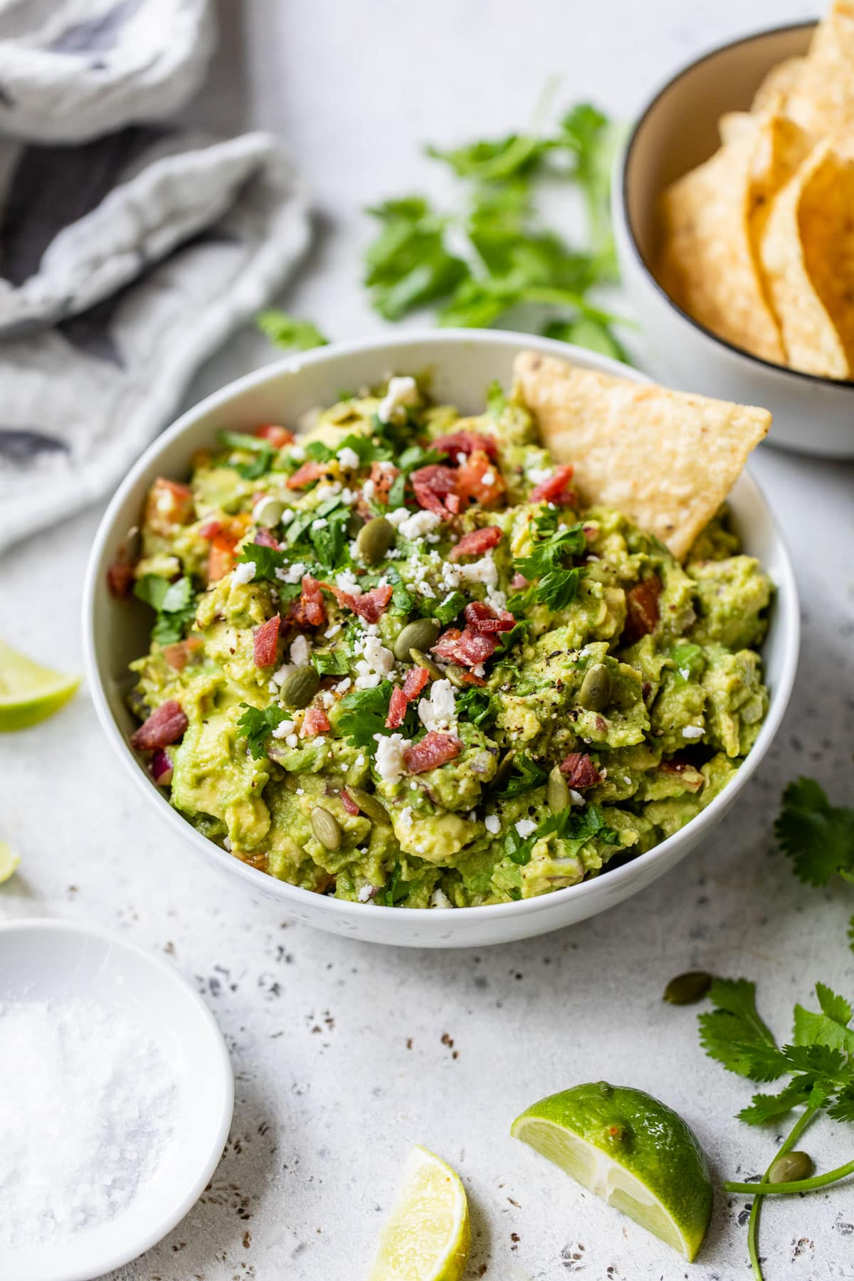 A bowl of the best homemade guacamole